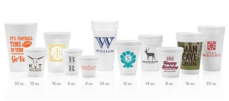 custom personalized styrofoam cups cup  arms