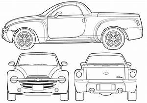 Chevrolet Ssr 2006 Blueprint