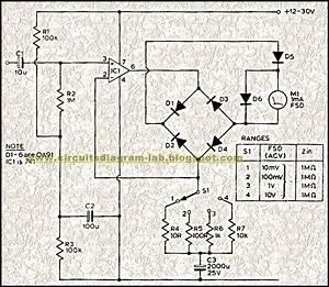 Audio Milli Volt Meter Circuit Diagram