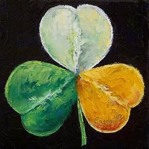 Irish Shamrock Painting by Michael Creese