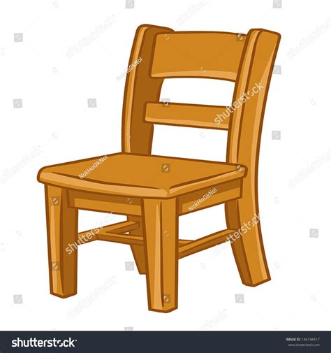 chaise com wood chair isolated illustration on white stock vector