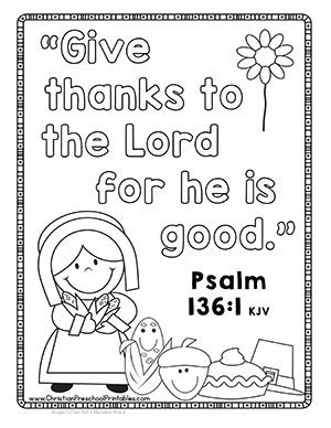 Give Thanks To The Lord Bible Verse Coloring Page Thanksgiving Bible Printables Crafts Christian