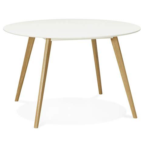 pied de bureau bois table ronde scandinave plateau blanc pieds bois immy