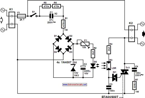Automatic Light Dimmer Circut Diagram The Circuit
