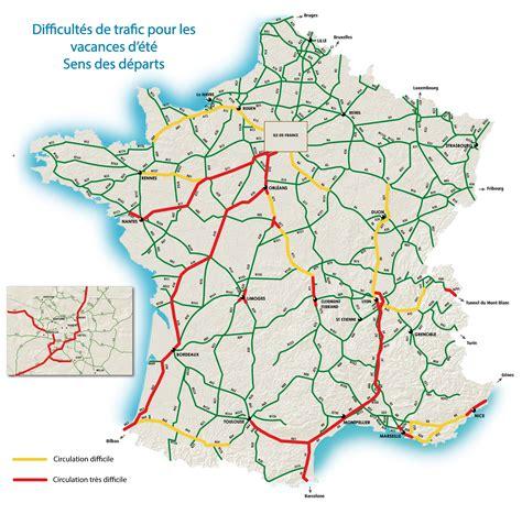 Carte Des Autoroutes Du Centre De La by Pr 233 Visions De Circulation Du Week End Du 29 Au 31 Juillet