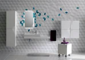 Wall Decorating Ideas For Bathrooms Futuristic Bathroom Wall Tile Decor Iroonie