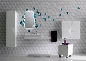 Wall designs for bathrooms : Futuristic bathroom wall tile decor iroonie