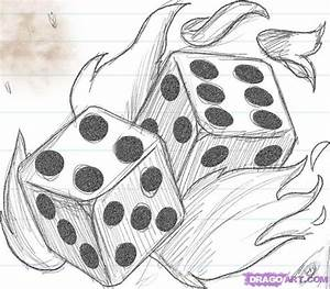 simple+things+to+draw | how-to-draw-flaming-dice-die-step ...