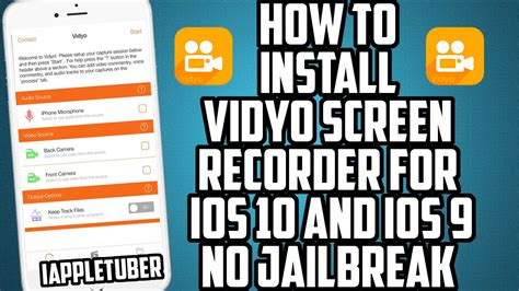 how to out an iphone how to install vidyo screen recorder for ios 10 ios 9