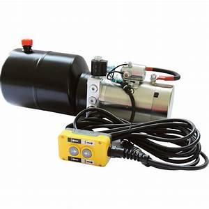 Nortrac 12 Volt Dc Hydraulic Power Unit  U2014 Single Acting