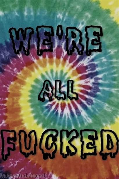 Dye Tye Trippy Tie Hippie Weed Stoner