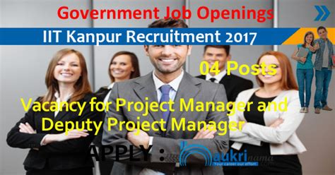 Iit Kanpur Project Manager And Deputy Manager Recruitment