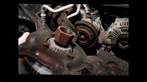 how to remove fan clutch without tool removing the fan clutch on a 2004 dodge or chrysler