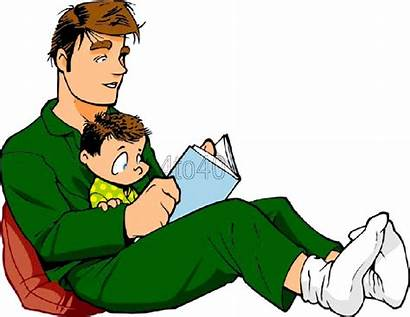Dad Clipart Reading Bedtime Stories Clip Father