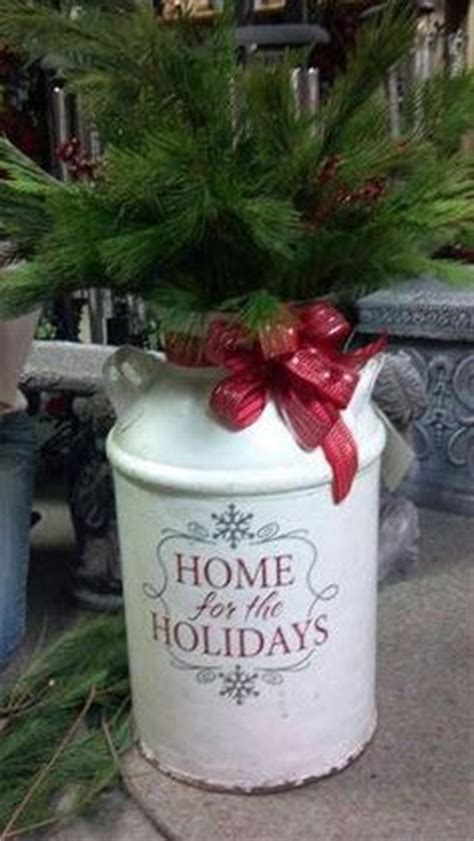 christmas milk can ideas pinterest cans on milk cans milk can decor and tractor seats