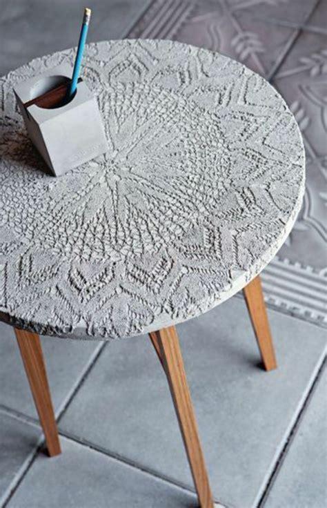 Basteln Mit Zement by Tisch Mit Tischdecke Basteln Mit Beton Zement Gips