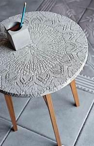 Basteln Mit Zement : tisch mit tischdecke basteln mit beton zement gips salzteig pinterest ~ Frokenaadalensverden.com Haus und Dekorationen