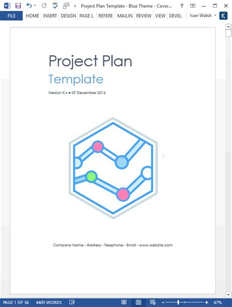 Project Activity Plan Template by Project Plan Template Ms Word Excel Forms
