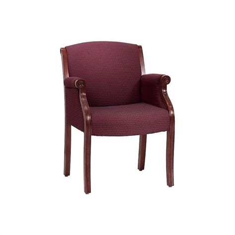 flexsteel seating traditional guest chair in burgundy