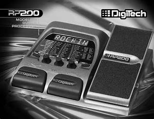 Digitech Rp200 User Manual