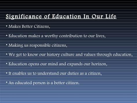 importance  education