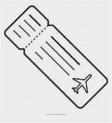 Ticket Coloring Template Plane sketch template