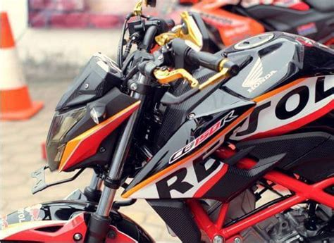 Modif Striping New Cb150r Hitam Merah by Modifikasi Honda All New Cb150 R Black Repsol