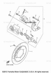 Yamaha Motorcycle 2008 Oem Parts Diagram For Front Brake