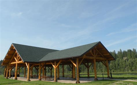 memorial log pavilion meadowlark log homes