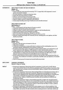 Coordinator Resume Examples Treatment Nurse Resume Samples Velvet Jobs