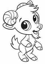 Goat Cabra Coloring Fofo Colorir Colorear Smiling Dibujos Lindo Colorironline Imprimir Cartoon Printable Flamingo Categorias Desenhos Domestic Walking Eating sketch template