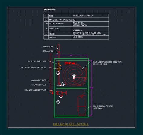 fire fighting installation detail  autocad cad