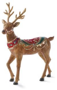 fiber optic head up reindeer frontgate outdoor christmas decorations traditional outdoor