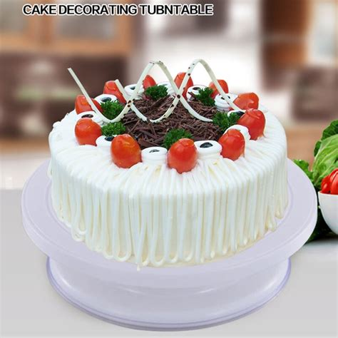cm anti slip plastic cake turntable rotating cake