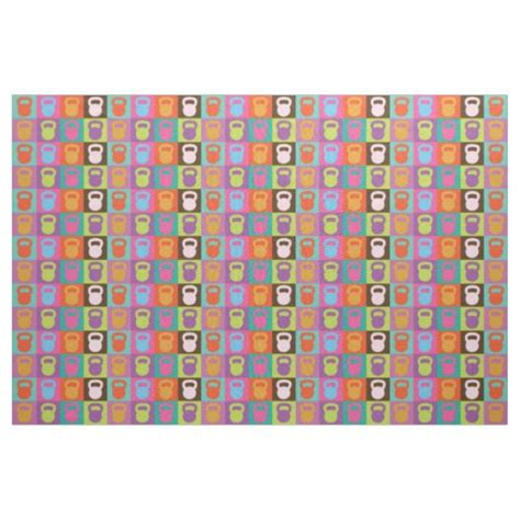 fabric kettlebell pattern train zazzle