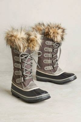 sorel joan  arctic fur trim boots anthropologie