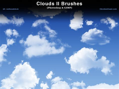 clouds ii photoshop  gimp brushes  redheadstock