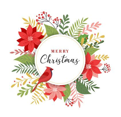 Merry Christmas Greeting Card In Elegant Modern And
