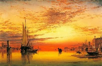 Oil Painting Simple Desktop Wallpapers Beginners Sunset