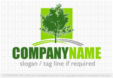 elegant tree logo