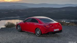 How do you upstage the most powerful car in its class? 2020 Mercedes-AMG CLA 45 (Color: Jupiter Red) - Rear Three ...
