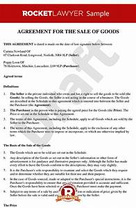 sale of personal goods contract create a sale contract With sale of goods agreement template