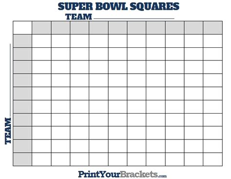 super bowl squares template excel  world  reference