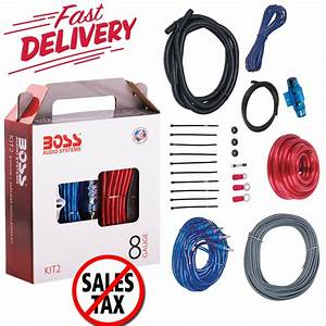 8 Gauge Amplifier Installation Kit Power Wiring Cable Sub