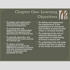 Ppt  Chapter One Criminal Law And Criminal Punishment An Overview Powerpoint Presentation Id