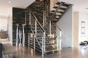 Cable Escalier Noir by Aviation Straight Stairs Battig Design