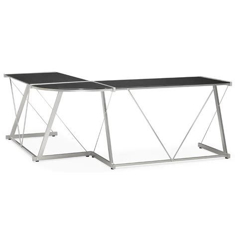 grand bureau d angle grand bureau d 39 angle bureau design en verre noir