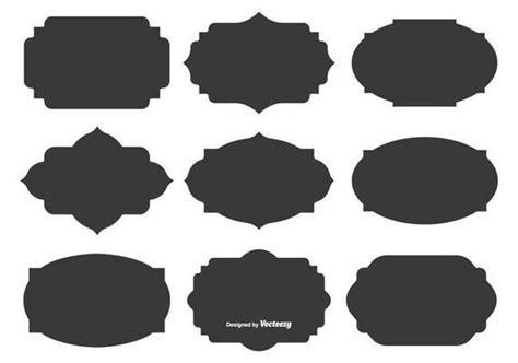 blank vector label shapes template design label label