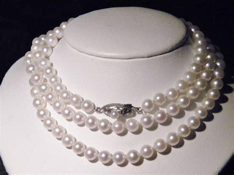 deco pearl necklace vintage deco opera length pearl necklace 32 quot silver collectors weekly