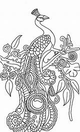 Peacock Coloring Pages Printable Abstract Peacocks Adults Drawing Simple Adult Animal Illustration Colouring Sheets Mandala Sheet Cool Step Books Tree sketch template
